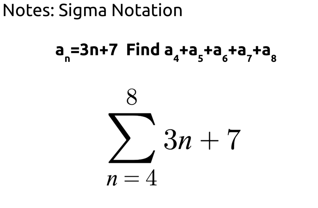 Algebra II Page 3 Mx Epstein – Sigma Notation Worksheet