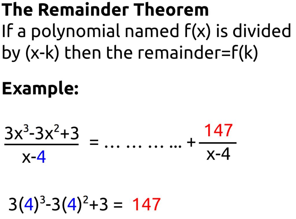 Algebra II Page 4 Mx Epstein – The Remainder Theorem Worksheet